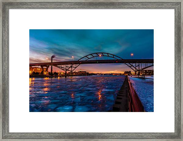 Frozen Hoan Bridge Framed Print