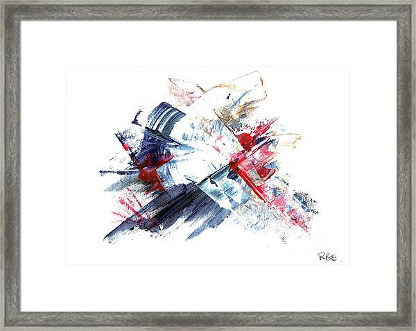 Frozen In Time / Space Framed Print