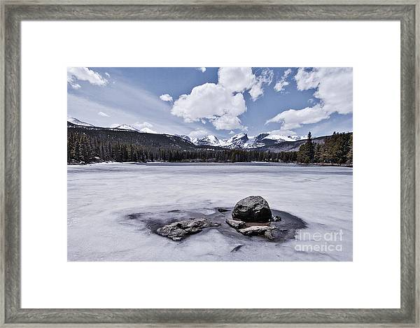 Framed Print featuring the photograph Frozen Lake by Mae Wertz