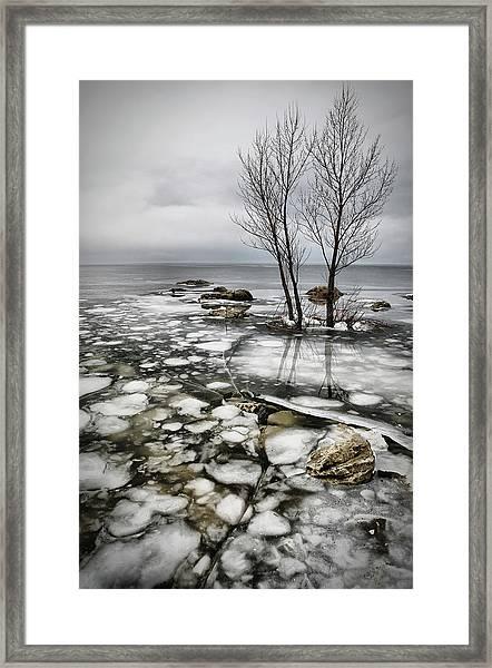 Frozen Lake Framed Print by Vedran Vidak