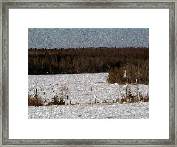 Frozen Lake Framed Print