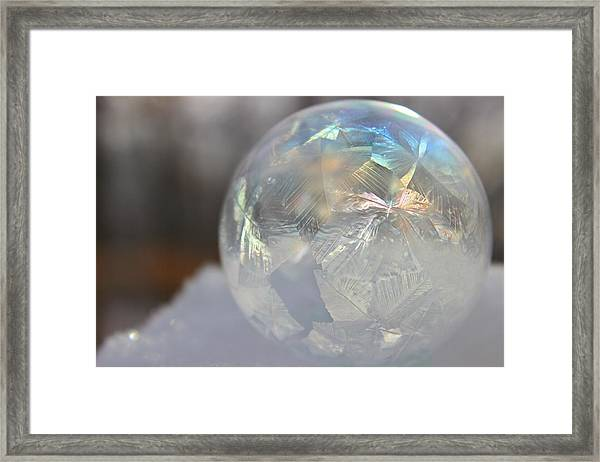 Framed Print featuring the photograph Frozen Rainbow by Candice Trimble