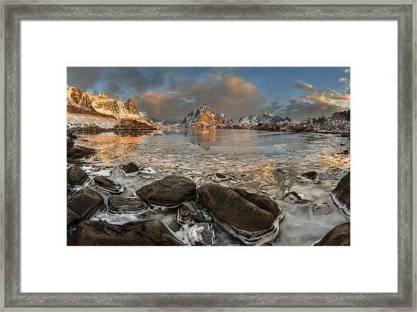 Frozen Reine Framed Print by Jan ?m?d Master