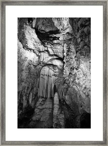 Frozen Waterfall In Carlsbad Caverns Framed Print