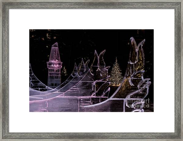 Frozen Waves Framed Print