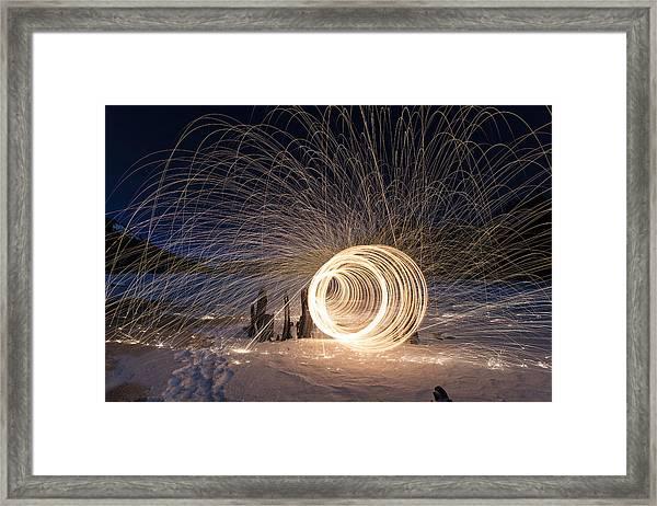 Frozen Worm Hole Framed Print
