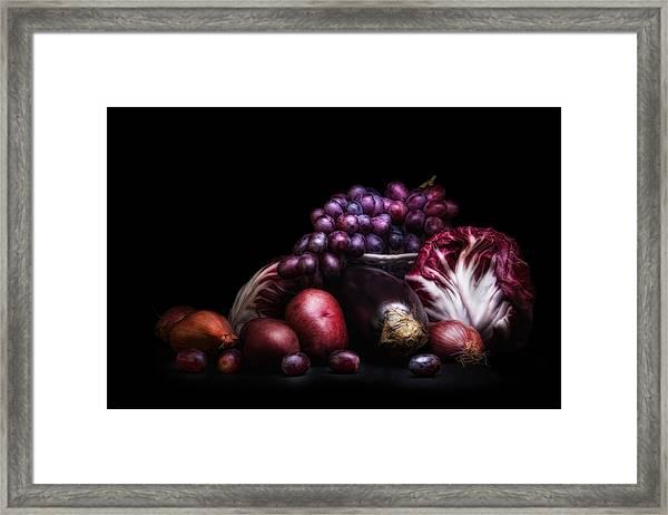 Fruit And Vegetables Still Life Framed Print