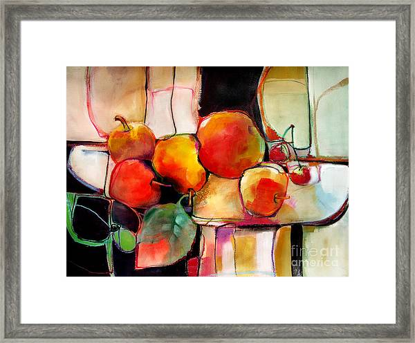 Fruit On A Dish Framed Print