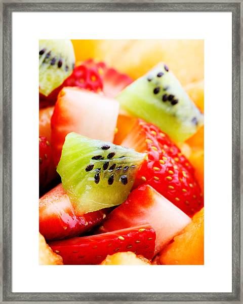 Fruit Salad Macro Framed Print