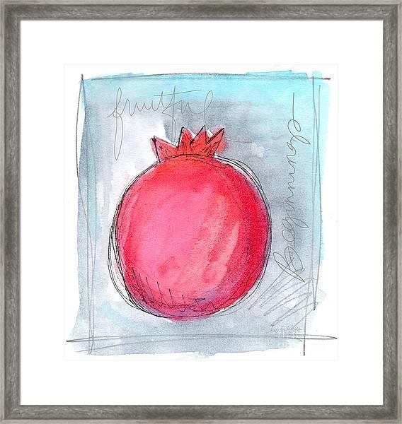 Fruitful Beginning Framed Print