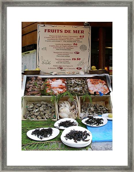 Fruits De Mer Framed Print