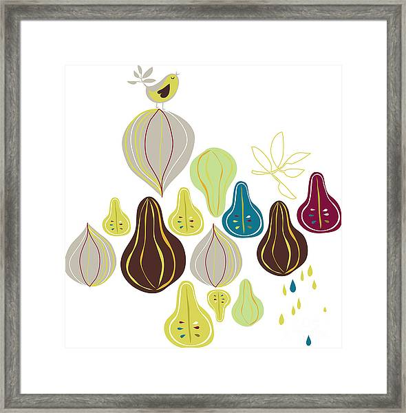 Fruits Wallpaper Framed Print