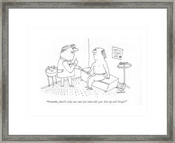 Frumble, There's Only One Cure For What Ails You Framed Print
