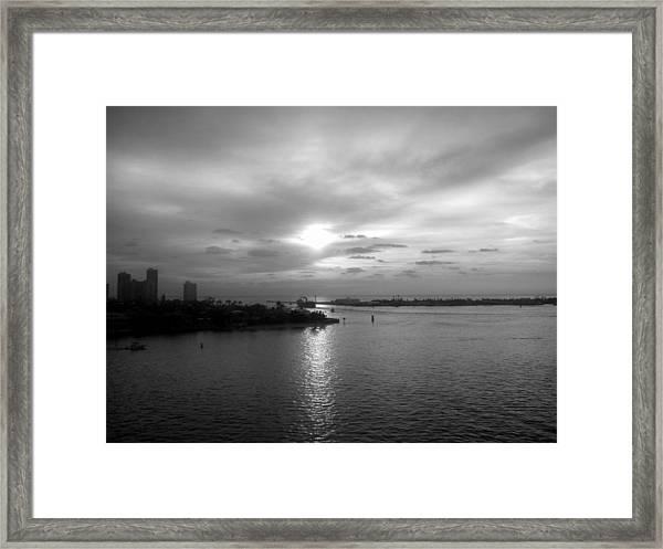 Ft Lauderdale Rising Bw Framed Print
