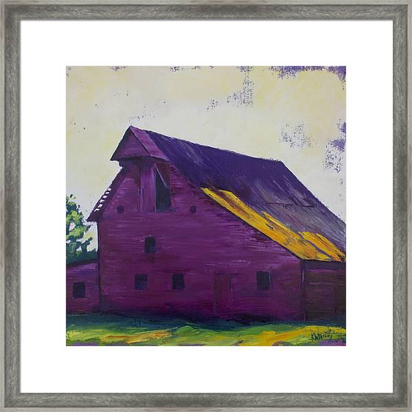 Fuchsia Barn Framed Print