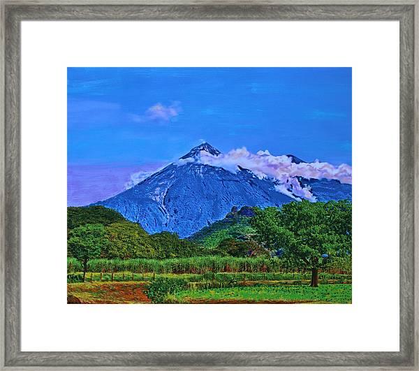 Fuego Volcano Guatamala Framed Print