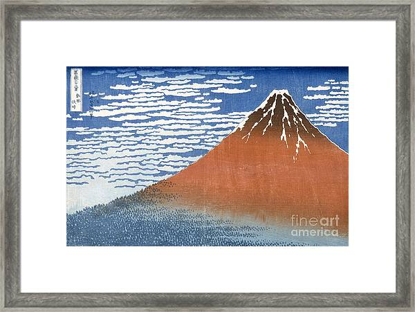 Fuji Mountains In Clear Weather Framed Print