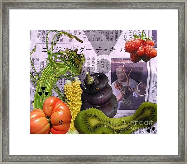 Fukushima Veggies Framed Print