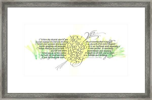 Fulfillment Framed Print