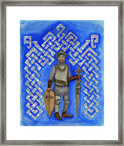 Full Armor Of Yhwh Man Framed Print