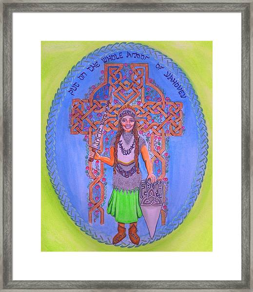 Full Armor Of Yhwh Woman Framed Print
