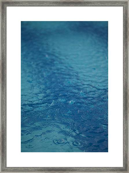 Full Frame Shot Of Swimming Pool Framed Print by Anselm Lier / EyeEm