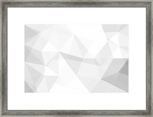 Full Frame Shot Of White Abstract Background Framed Print by Chakrapong Worathat / EyeEm