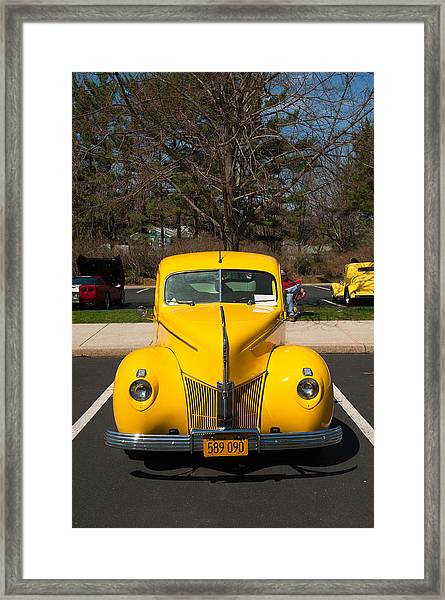 Full Frontal Yellow Framed Print