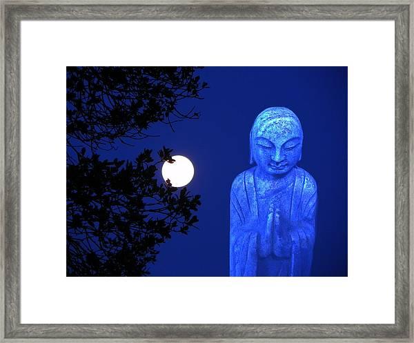 Full Moon Buddha Framed Print