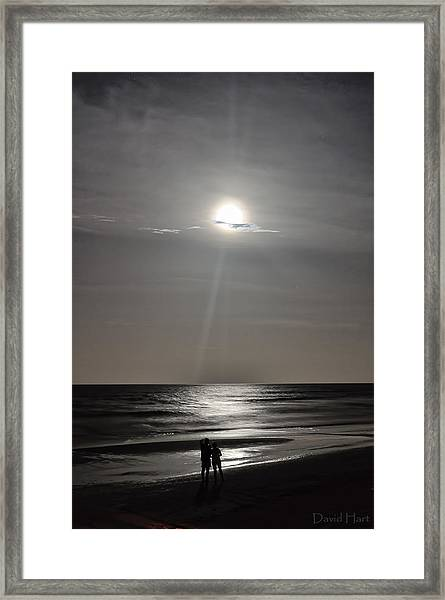 Full Moon Over Daytona Beach Framed Print