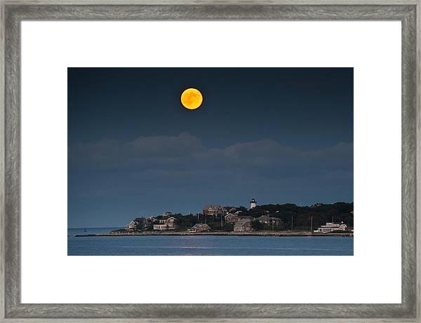Full Moon Over East Chop Framed Print