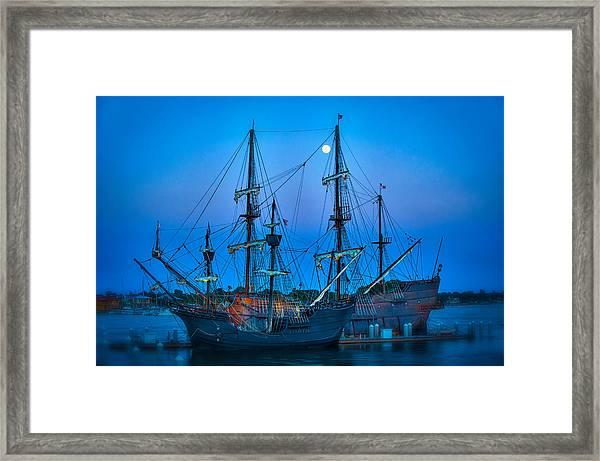 Full Moon Over Our Spanish Heritage Framed Print