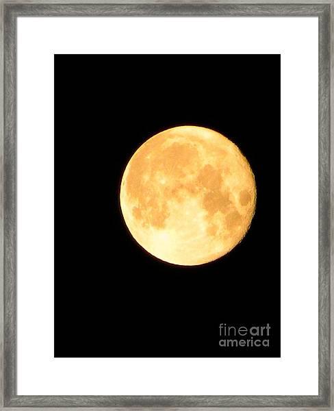 Full Moon Saturday Night Framed Print