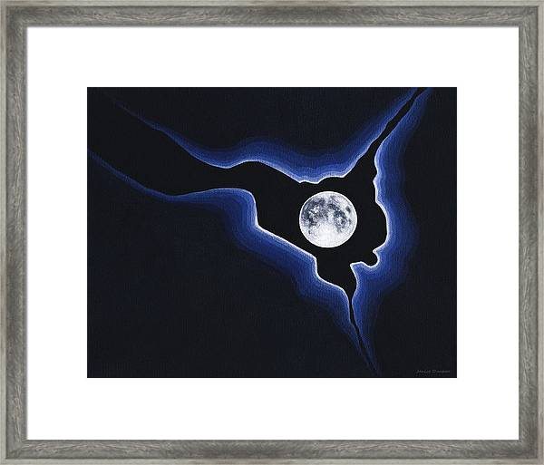 Full Moon Silver Lining Framed Print