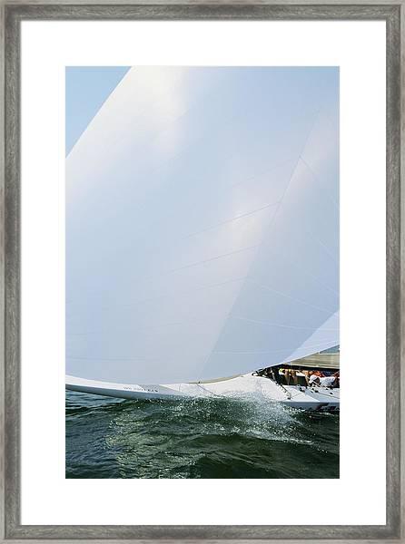 Full Spinnaker - Lake Geneva Wisconsin Framed Print