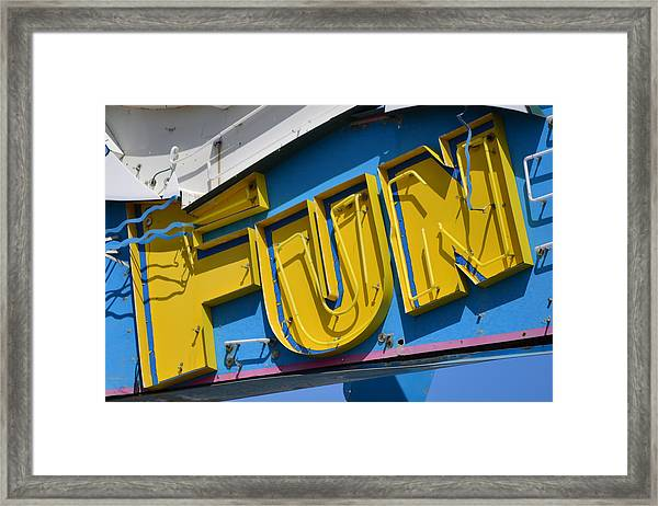 Fun In Seaside Heights Nj Framed Print