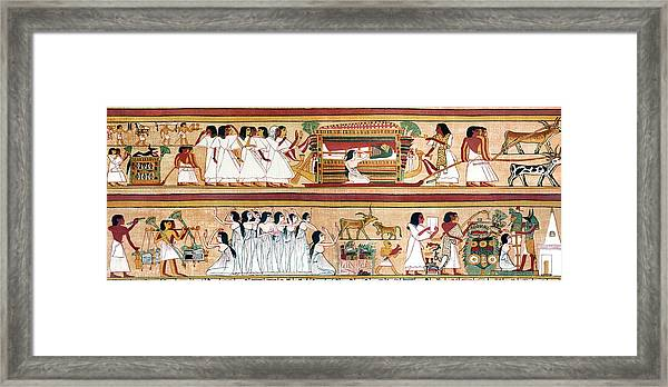 Funeral Procession Of Ani Framed Print by Sheila Terry/science Photo Library