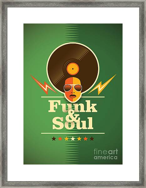 Funk And Soul Poster. Vector Framed Print