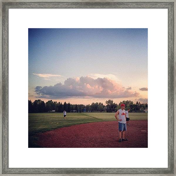 Funky #cloud Over The Big Firm (cc Framed Print