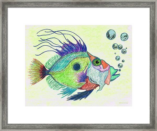 Funky Fish Art - By Sharon Cummings Framed Print