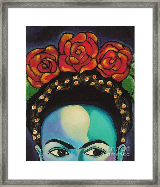 Framed Print featuring the painting Funky Frida by Carla Bank