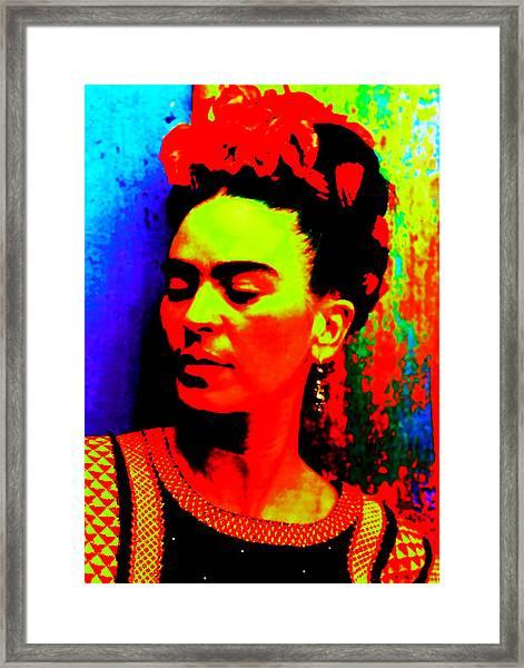 Funky Frida Framed Print