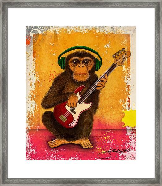 Funky Monkey Framed Print