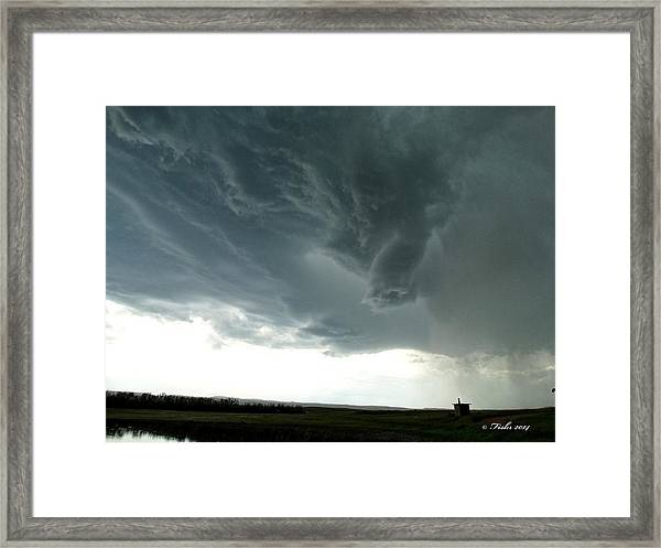 Funnel Cloud Framed Print