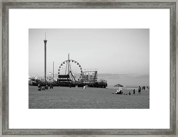 Funtown Pier - Jersey Shore Framed Print
