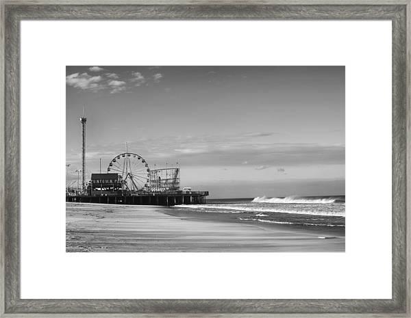 Funtown Pier Seaside Heights New Jersey  Framed Print