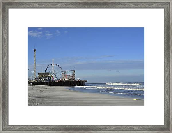 Funtown Pier Seaside Heights Nj Jersey Shore Framed Print