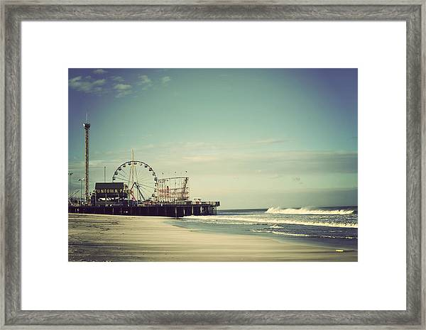 Funtown Pier Seaside Heights New Jersey Vintage Framed Print
