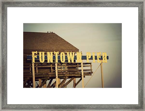 Funtown Vintage Framed Print