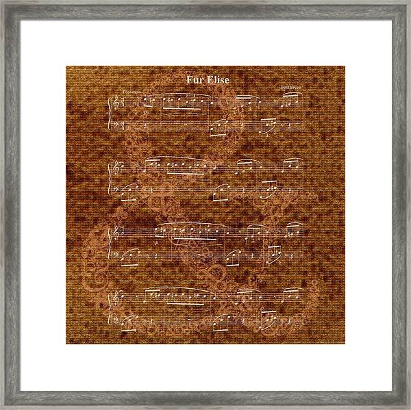 Fur Elise Music 2 Digital Painting Framed Print